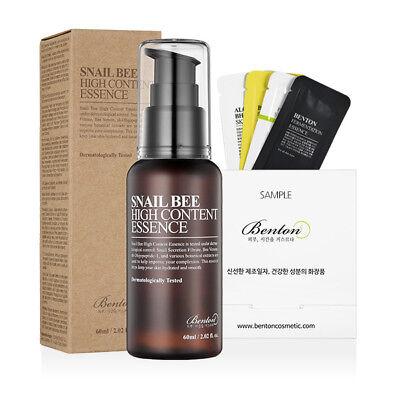 [Benton Cosmetic] Snail Bee High Content Essence 60ml (Renew) + Free Sample