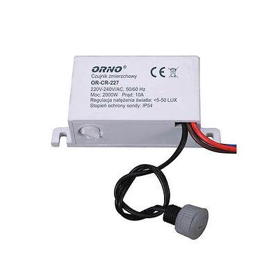 Dämmerungssensor mit externen Sonde Dämmerungsschalter  max 2000W IP54 CR227