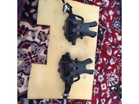 Two bike pedals with adjustable clips NEW