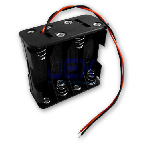 8X AA DIY Battery Holder Case Box Base 12V Volt PCB Mount With Bare Wire Ends