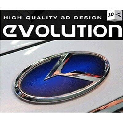 Fits: KIA 2011+ New pride 5 Door Kspeed Blue K logo Front Rear emblem 2PCS