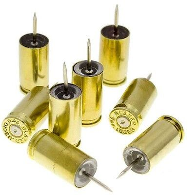 9mm Bullet Push Pins - Pack Of 8