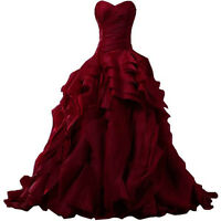Prom Dress-Burgundy Gown