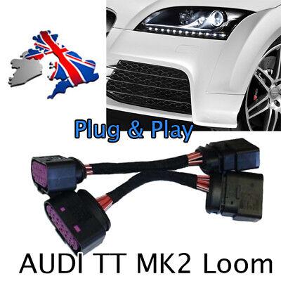 Halogen For XENON HEADLIGHT ADAPTIVE LIGHT ADAPTER CABLE LOOM Audi TT II 8J