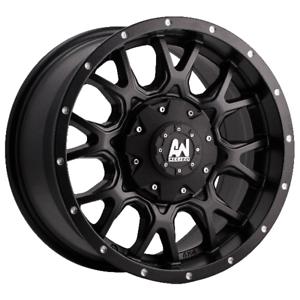 allied wheels byron black 18X9 4x4 rims x5