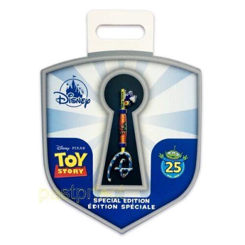 Disney Store Toy Story Key Pin 25th Anniversary Buzz Woody Pixar New w Card 2021