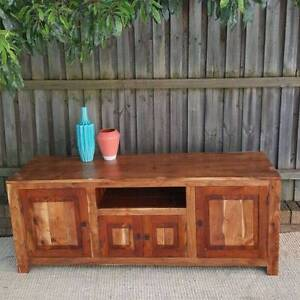 Large Solid Hardwood Rosewood TV Entertainment Unit Cabinet Coogee Eastern Suburbs Preview