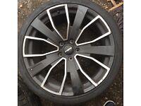 """Q7 Range Rover Porsche 22""""wheels x4 295/30 ZR22 103XLY FOCUS 9000"""