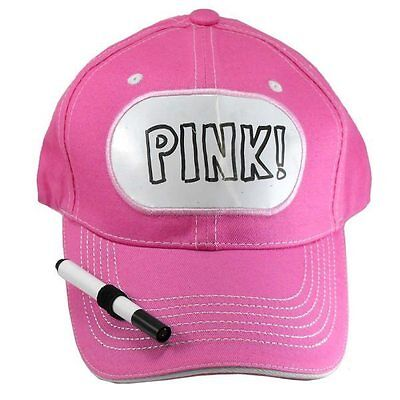 BILLBOARD ADVERTISING DRY ERASE BASEBALL Pink HAT sign message TAG name -
