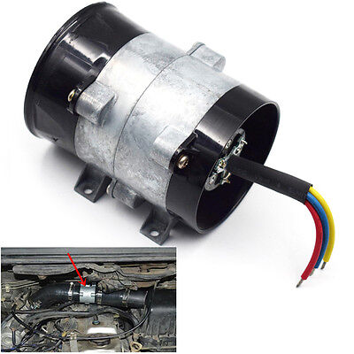 Car 12V 16 5A Electric Turbine Turbo Charger Air Intake Fan Bold Line Practical
