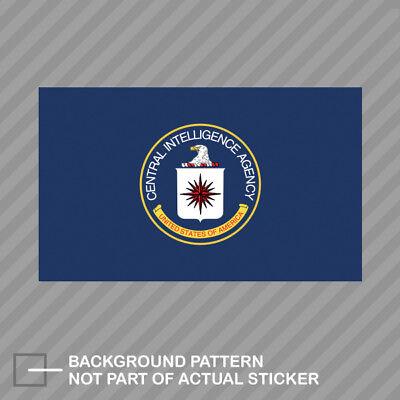 Central Intelligence Agency CIA Flag Sticker Decal Vinyl black usa clandestine