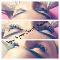 POSE DE CILS/EYELASH EXTENTION/HAIR/EXTENSION CAPILLAIRE*