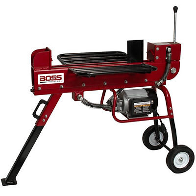 Boss Industrial 10 Ton Horizontal Dual Action Electric Log Splitter