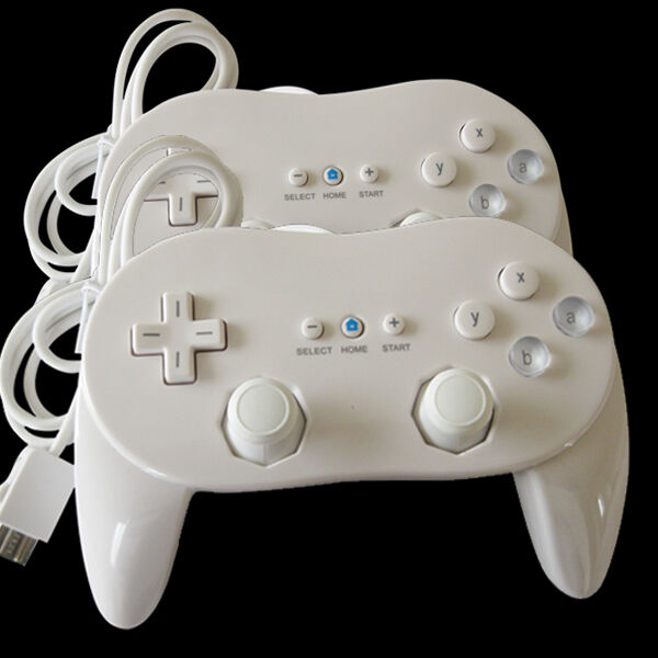 2 Pro Classic Game Controller Pad Console For Nintendo Wii