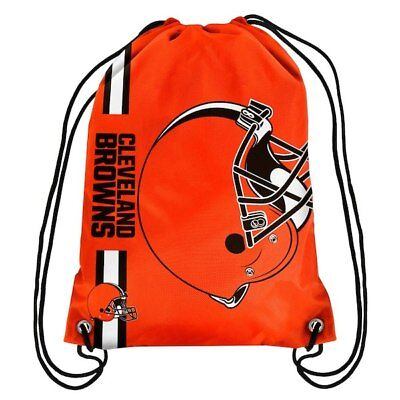 Logo Drawstring Backpack - New! Cleveland Browns Big Logo Drawstring Backpack Bag Orange NFL Fan Gear Gift