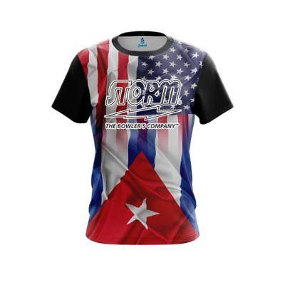 Storm USA Cuban Flag CoolWick Performance Crew Bowling Shirt - Cuban Attire
