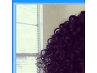 Synthetic afro kinky curly wig