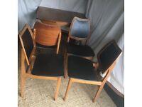 4 x Retro Dining Chairs