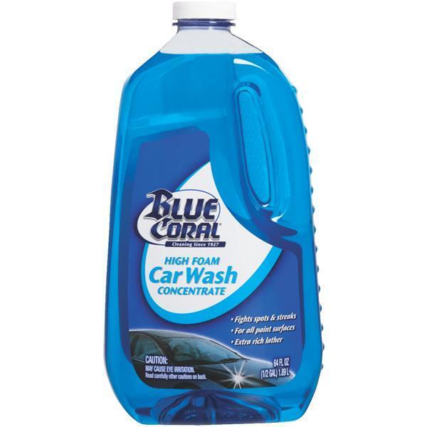 6 Pk Blue Coral 64 Oz. High-Performance Streak-Free Liquid Concentrate Car Wash