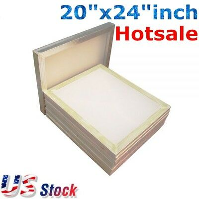Usa 6pcs 20 X 24 Aluminum Frame Screen With 110 White Mesh For Screen Printing