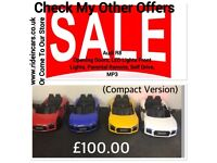 Kids Electric Ride-On Cars From £100, Many Cars Reduced In Price,