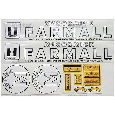 New Farmall Decal Set For Models Super M