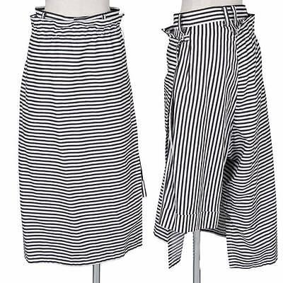 (SALE) LIMIfeu stripe wrap skirt combined shorts Size S(K-29399)