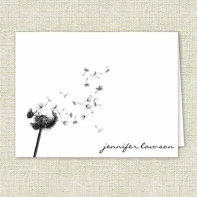 Dandelion Personalized Note Cards - Stationery Set - Set of 10 - Made to Order