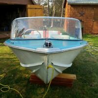 14ft Springbok boat and 25hp Johnson outboard