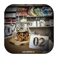 Rustic Table Decor Special