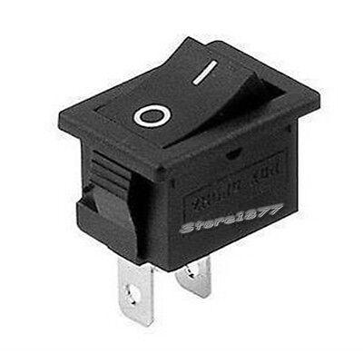 10pcs Mini Black 2 Pin Spst On-off Rocker Switch S654