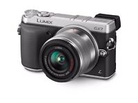 Panasonic LUMIX DMC-GX7 16.0 MP DSLR -Silver with 14-42mm II Lens