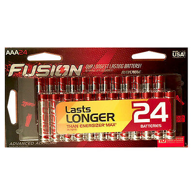 Rayovac Fusion AAA 24-Pack Retail + Free Shipping