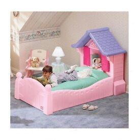 Girls Little tikes toddler bed