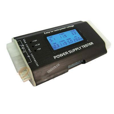 Sintech PC ITX ATX BTX SATA Power supply LCD tester 20/24 pin aluminium case