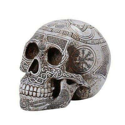 Pacific Giftware PT Viking Skull Resin Figurine Tabletop Statue