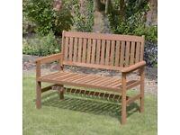 2 Seater Hardwood Garden Patio Bench (FREE LOCAL DELI VERY)