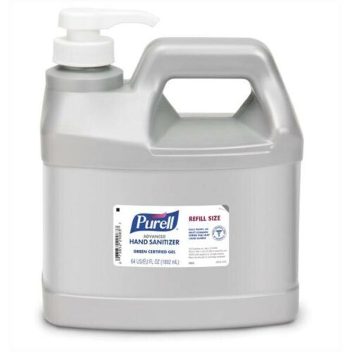 Purell Advanced Hand Sanitizer Gel 64oz Refill Size Jug with Pump 9684
