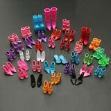 80X Different Doll Outfit Dress Fashion High Heel Shoes Boots Sandals For Barbie