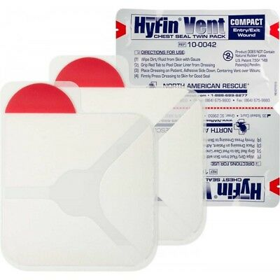 - Genuine NAR HyFin Vent Compact Chest Seal Twin Pack