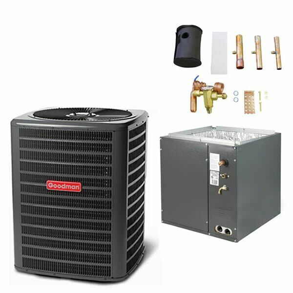 """Goodman - 2.5 Ton Air Conditioner + Coil Kit - 13.0 SEER - 14"""" Coil Width - F..."""
