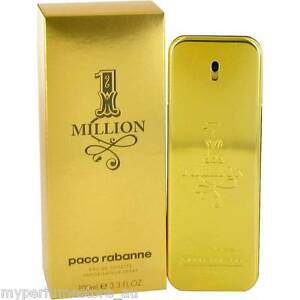 1 ONE MILLION 100ml EDT SPRAY FOR MEN BY PACO RABANNE ------------ NEW PERFUME #