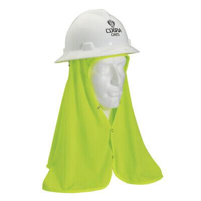 2 SAFETY HARD HAT FLEX COOL OFF SHADE LIME NECK SHIELD HELME