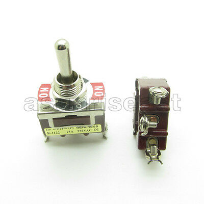 Heavy Duty Toggle Switch Spdt 3 Screw Terminal On-off-on 3 Position 15a 250v
