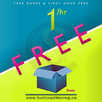 Book Your Move With Sun Coast Moving  get your First Hour FREE