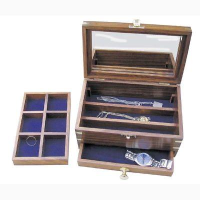 Sea Club Schmuckschatulle, maritimes Design, Holz, viele Schubladen,ausziehbar
