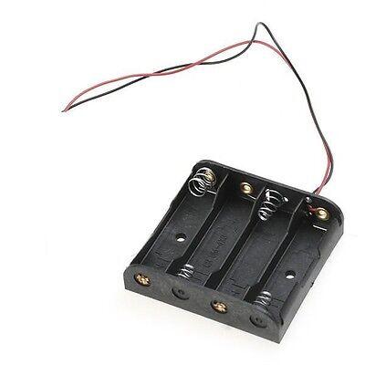 2 Pcs Battery Holder Box Case W Wire 4xaa 4aa 4xaa 6v 4aa