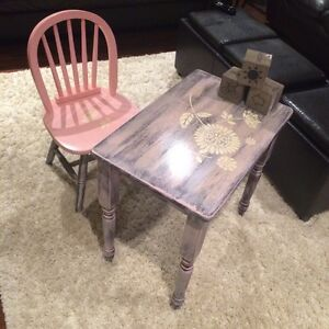 Little girls table and chair