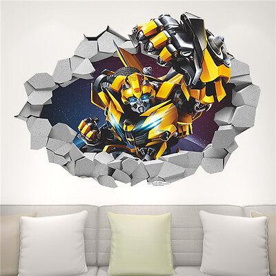 70X50cm Transformers Autobots 3D Wall Decals Removable Sticker Kids Art PVC
