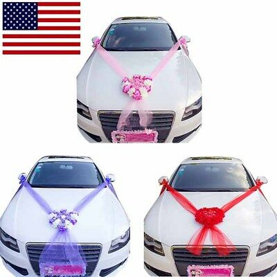 Artificial Flowers Wedding Car Decoration Fake Flowers Rose Romantic Heart Shape](Wedding Car Decoration)
